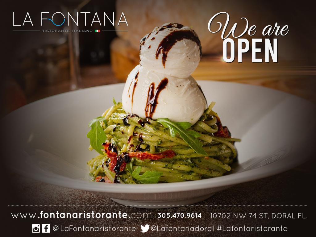 Best Italian Food in Doral , Taste of Doral , La Fontana