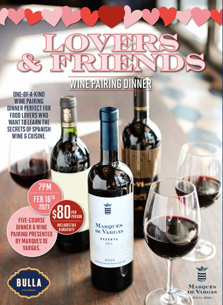 Bulla Gastrobar Doral Exclusive Lovers & Friends 5-Course Wine Pairing Dinner